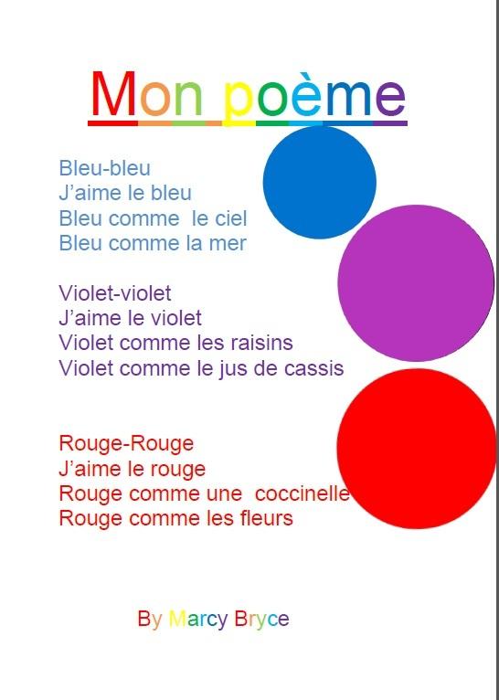St. Margaret's School for Girls Aberdeen :: 5 Junior French poems